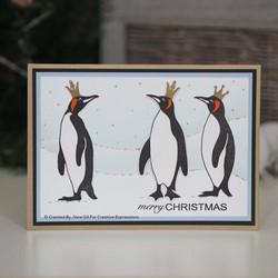 Woodware leimasinsetti King Penguins