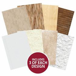 Hunkydory kartonkipakkaus Paper & Woods, A4, 24 arkkia, 350 gsm