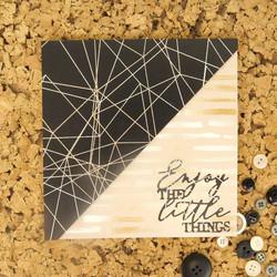 Hunkydory kartonkipakkaus Rose Gold & Black, A4, 24 arkkia, 350 gsm