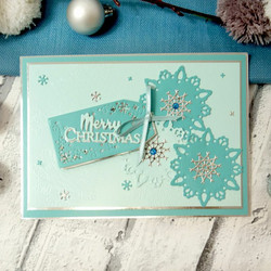 Hunkydory stanssisetti Sparkling Snowfall Tags