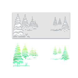 Polkadoodles Winter Trees Layering -sapluuna