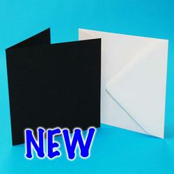 CraftUK korttipohjat ja kirjekuoret, musta, 6