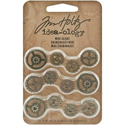 Tim Holtz Idea-Ology Metal -koristeet, Mini Gears