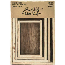 Tim Holtz Idea-Ology Wooden Vignette Boxes -laatikot