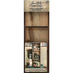 Tim Holtz Idea-Ology Wooden Vignette Divided Drawer -laatikko