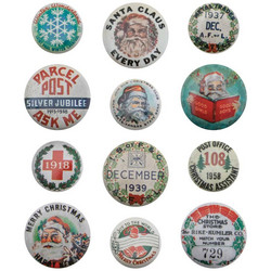 Tim Holtz Idea-Ology Metal Vintage Flair -koristeet, Christmas