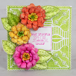 Heartfelt Creations Small Garden Zinnia -leimasin