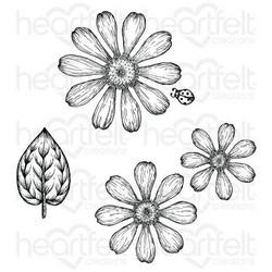 Heartfelt Creations Small Garden Zinnia -leimasin