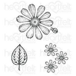 Heartfelt Creations Large Garden Zinnia -leimasin