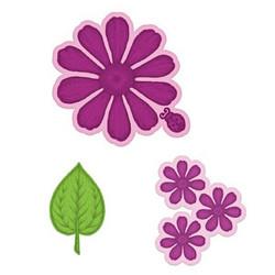 Heartfelt Creations Large Garden Zinnia -stanssisetti
