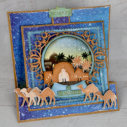 Heartfelt Creations Starry Night Winterscapes -leimasin