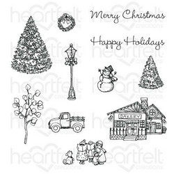 Heartfelt Creations Festive Winterscapes -leimasin