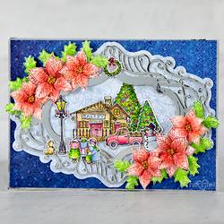 Heartfelt Creations Festive Winterscapes -leimasin