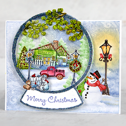 Heartfelt Creations Festive Winterscapes -stanssisetti