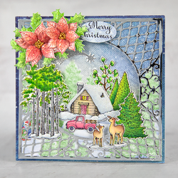 Heartfelt Creations Woodsy Winterscapes -leimasin