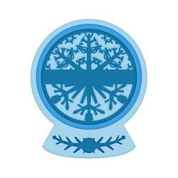Heartfelt Creations Festive Snowglobe -stanssisetti