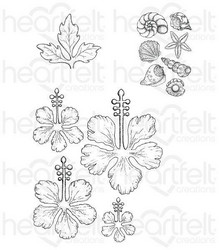Heartfelt Creations Tropical Hibiscus -leimasin