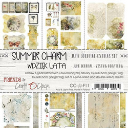 Craft O'clock paperipakkaus Summer Charm Junk Journal Extras