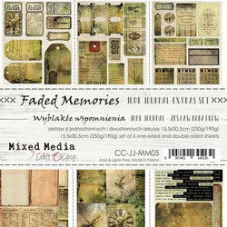 Craft O'clock paperipakkaus Faded Memories Junk Journal Extras