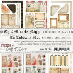 Craft O'clock paperipakkaus This Miracle Night Junk Journal Extras