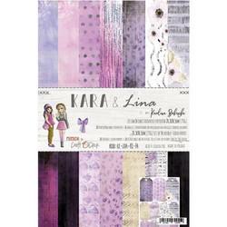 Craft O'clock paperipakkaus Kara & Lina, A4