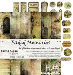 Craft O'clock paperipakkaus Faded Memories, 12