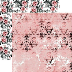 13@rts skräppipaperi Rosalie, Pink Fields
