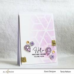 Altenew Mini Delight: Precious Florette -leimasin- ja stanssisetti