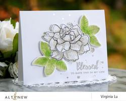 Altenew Build-A-Flower Gardenia stanssi- ja leimasinsetti
