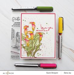 Altenew Paint-A-Flower: Calla Lily -leimasinsetti