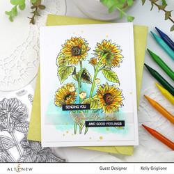 Altenew Paint-A-Flower: Sunflower -leimasinsetti