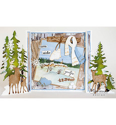 Marianne Design stanssisetti Gate Golding, Tiny's Forest