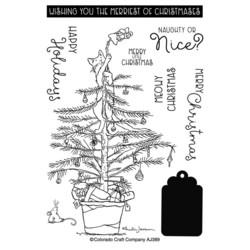 Colorado Craft Company Anita Jeram leimasinsetti Christmas Tree Cat