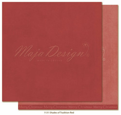 Maja Design Monochromes - Shades of Tradition skräppipaperi Red