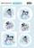 Yvonne Creations korttikuvat Happy Snowmen