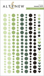 Altenew Green Fields Enamel Dots -tarrat