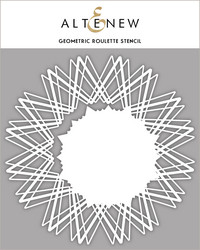 Altenew Geometric Roulette -sapluuna- ja maskisetti