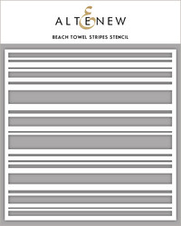 Altenew Beach Towel Stripes -sapluuna