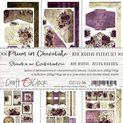 Craft O'clock paperipakkaus Plum In Chocolate Junk Journal Extras