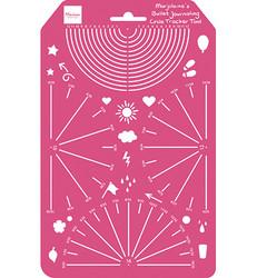 Marianne Design sapluuna Circle Tracker Tool