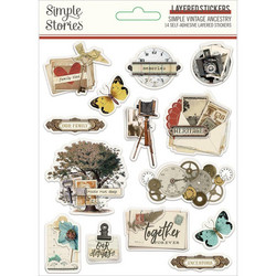 Simple Stories Layered Stickers -tarrat Simple Vintage Ancestry