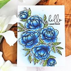 Hero Arts + Gina K leimasinsetti Friendship Blooms