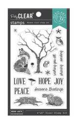 Hero Arts leimasinsetti Winter Tree & Animals