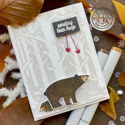 Hero Arts leimasinsetti Fuzzy Winter Animals