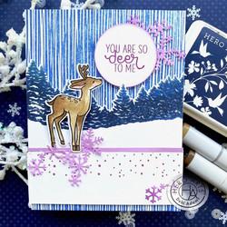 Hero Arts leimasin Snowflake Swirl Bold Prints