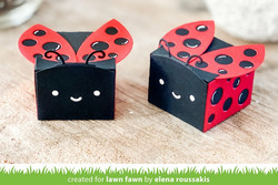 Lawn Fawn stanssisetti Tiny Gift Box Ladybug Add-On