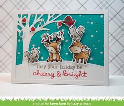 Lawn Fawn leimasinsetti Cheery Christmas