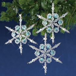 Nostalgic Christmas Beaded Crystal Ornament -pakkaus, Shimmer Snowflakes