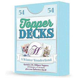 Hunkydory Topper Decks -korttikuvat A Winter Wonderland