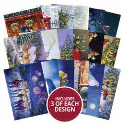Hunkydory Mirri Magic Topper Decks -korttikuvat Christmas Reflections